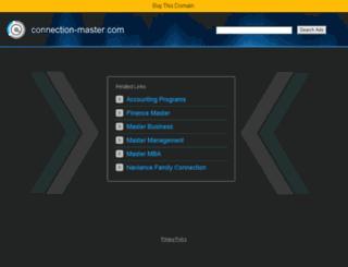 connection-master.com screenshot