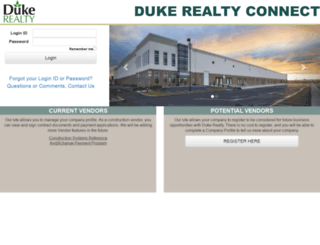 connection.dukerealty.com screenshot