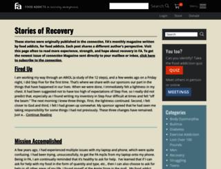 connection.foodaddicts.org screenshot
