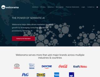 connection.weborama.com screenshot