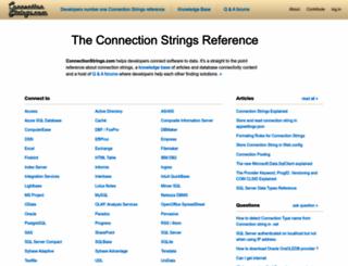 connectionstrings.com screenshot