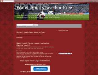 connectonlivesports.blogspot.com screenshot