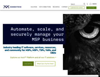 connectwise.com screenshot