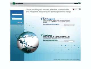 connexis.bnpparibas.com screenshot