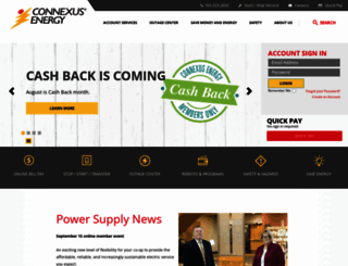 connexusenergy.com screenshot