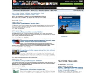 conocophillips.einnews.com screenshot