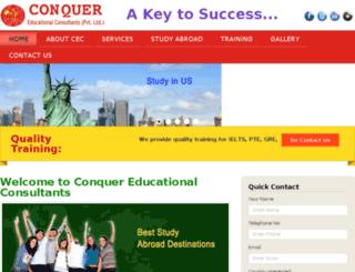 conqueroverseas.org screenshot