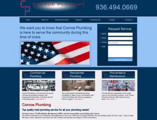 conroeplumbing.com screenshot