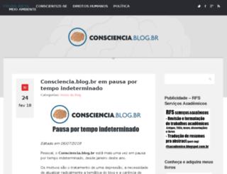 consciencia.blog.br screenshot