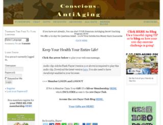 consciousantiaging.com screenshot