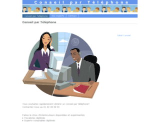 conseil-par-telephone.com screenshot