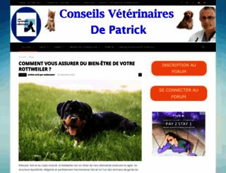 conseilsveterinaire.com screenshot