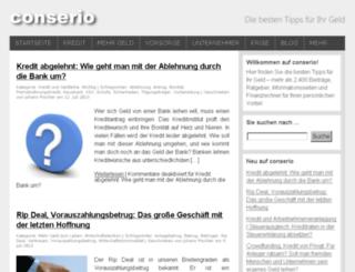 conserio.at screenshot