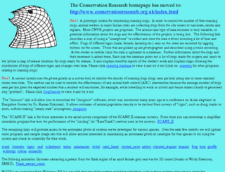 conservationresearch.co.uk screenshot