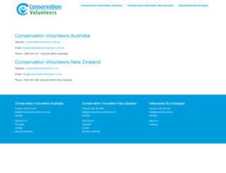 conservationvolunteers.org screenshot