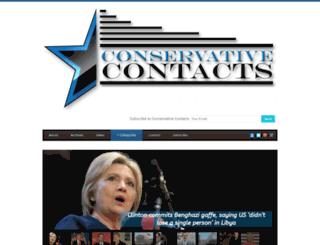 conservativecontacts.com screenshot
