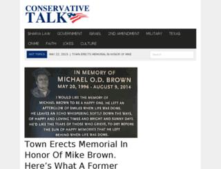 conservativetalk.net screenshot