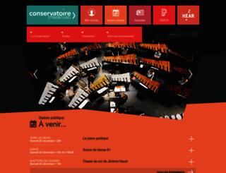 conservatoire.strasbourg.eu screenshot