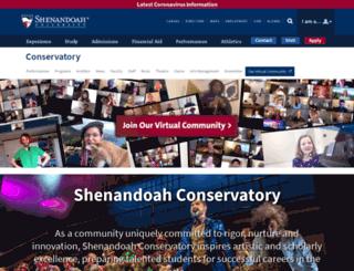 conservatory.su.edu screenshot