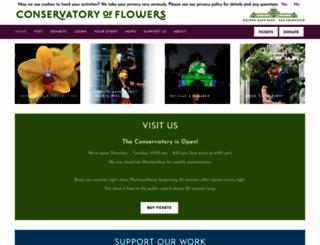 conservatoryofflowers.org screenshot