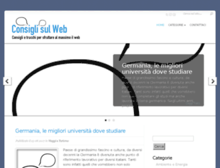 consiglisulweb.it screenshot