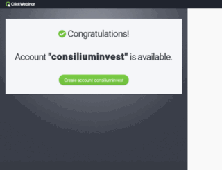 consiliuminvest.clickwebinar.com screenshot