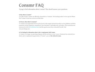 consmr.com screenshot