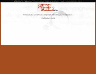 consolecheatcodes.com screenshot