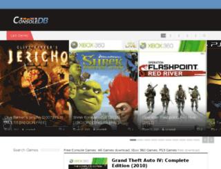 consoledb.altervista.org screenshot