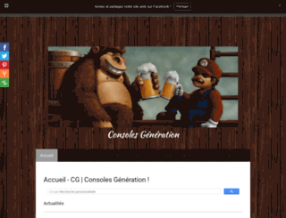 consoles-generation.jimdo.com screenshot