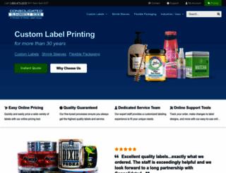 consolidatedlabel.com screenshot