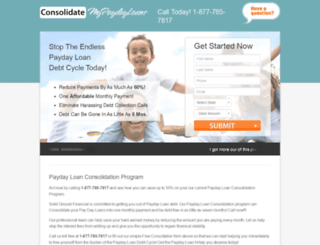 consolidatemypaydayloans.org screenshot