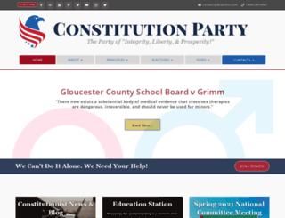 constitutionparty.com screenshot