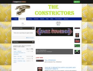 constrictors.bramptonnorthsoccer.com screenshot