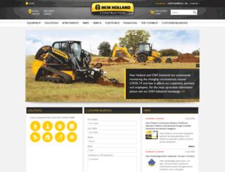 construction.newholland.com screenshot