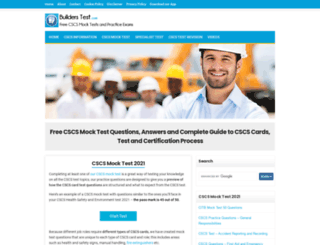 constructioncardmocktest.com screenshot
