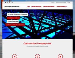 constructioncompany.com screenshot