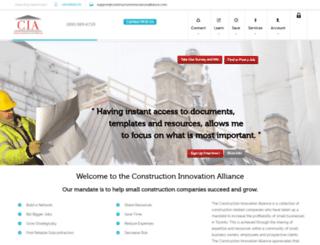 constructioninnovationalliance.com screenshot