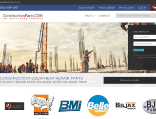 constructionparts.com screenshot