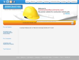 constructionrecruitments.com screenshot