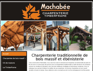 constructionsmachabee.ca screenshot