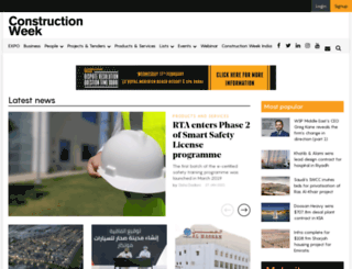 constructionweekonline.com screenshot