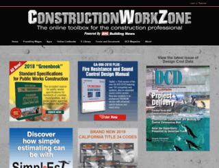 constructionworkzone.com screenshot