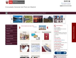 consuladoperumadrid.org screenshot