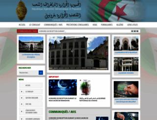 consulat-algerie-grenoble.org screenshot