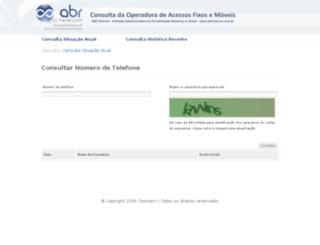 consultanumero.abr.net.br screenshot