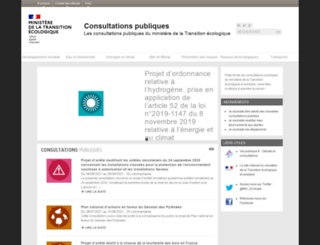 consultations-publiques.developpement-durable.gouv.fr screenshot