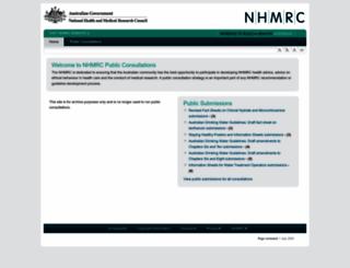 consultations.nhmrc.gov.au screenshot