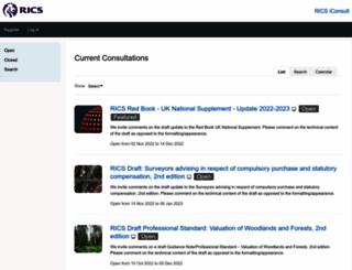consultations.rics.org screenshot