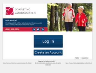 consultingcardiologists.followmyhealth.com screenshot